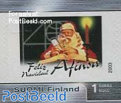 Personal stamp with Santa Claus 1v s-a