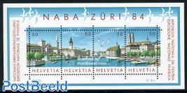 NABA ZURI 84 stamp exposition s/s