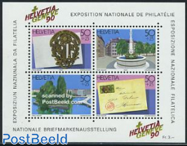 GENEVE 90 stamp exposition s/s
