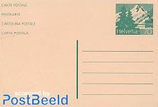 Specimen postcard 70c green (80x117mm)