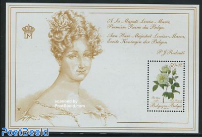 Philatelic promotion, flowers s/s