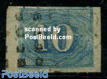 10c, blue, Stamp out of set