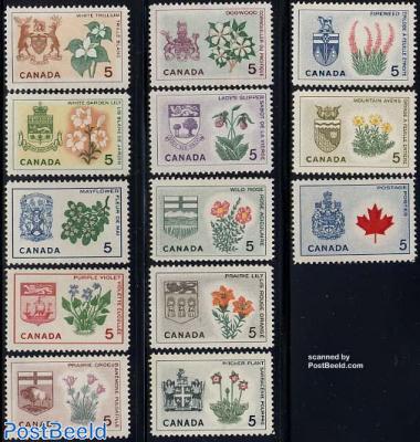 Provincial arms & flowers 13v