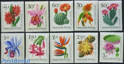 Botanic garden flowers 10v