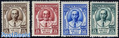 10 years Indonesian post 4v