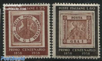 Napel stamp centenary 2v