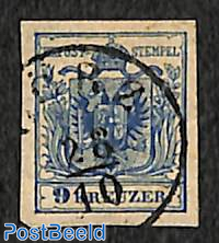 9Kr, Without WM, Stamp out of set