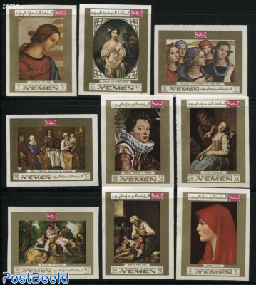 European paintings 9v, imperforated